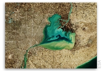 Earth from Space: Lake St. Clair, US - Canada Border