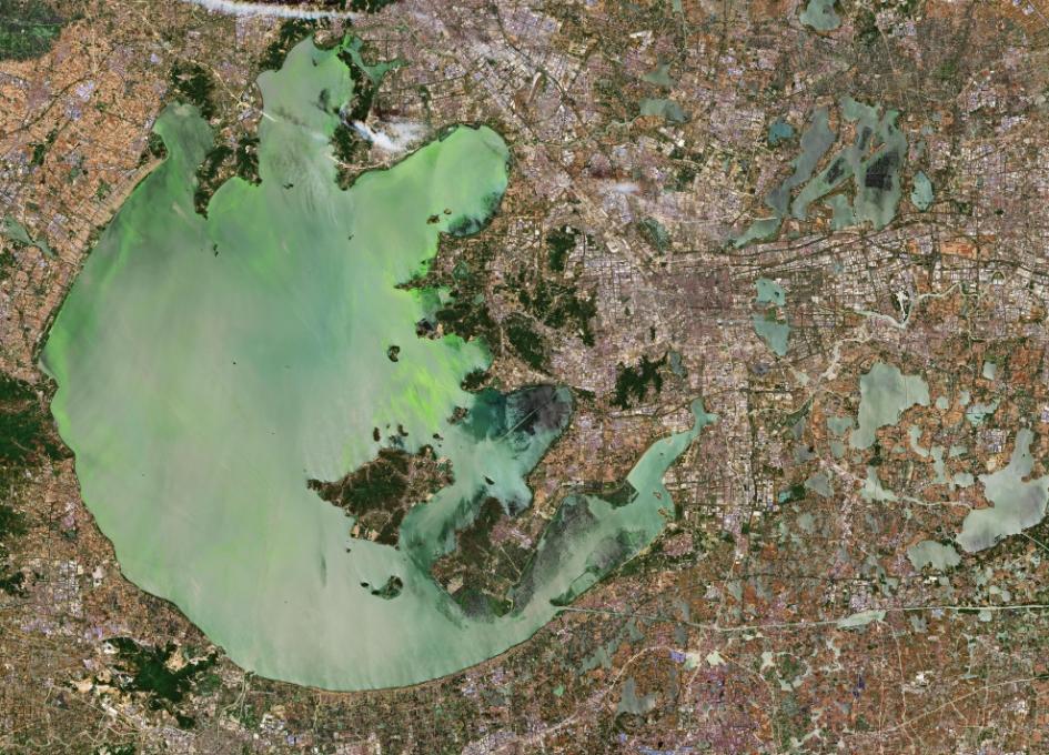 Earth from Space: Lake Tai, China