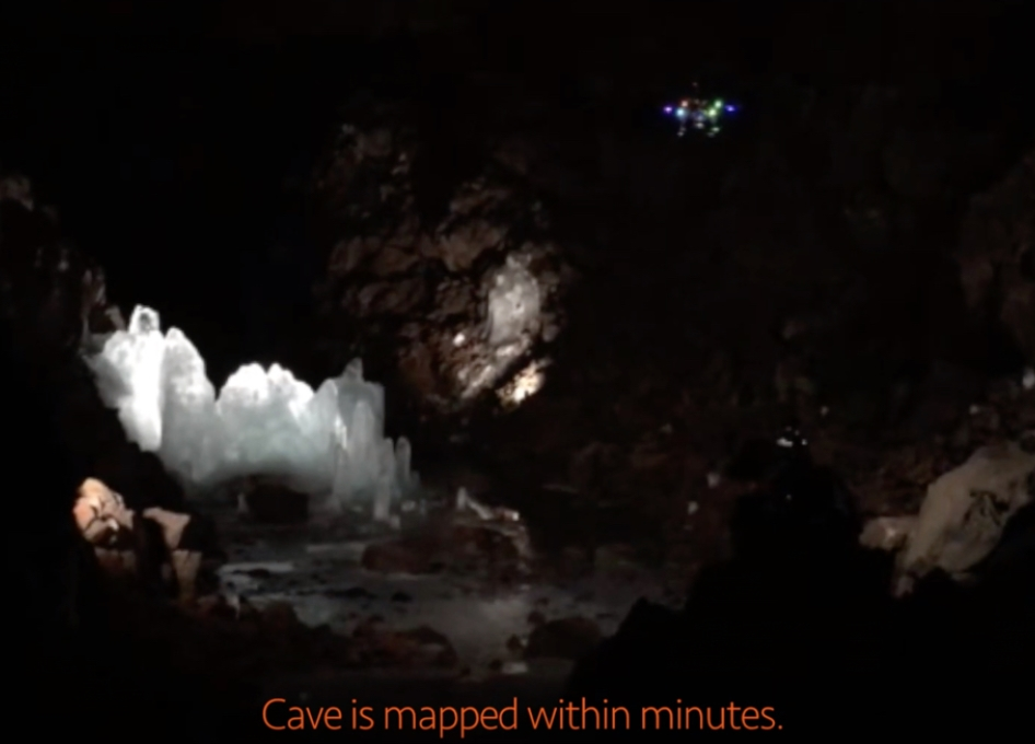 Drone Maps Icy Lava Tube in Iceland in Preparation for Cave Exploration on the Moon and Mars