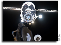 Russian Cargo Droid Docks With The ISS