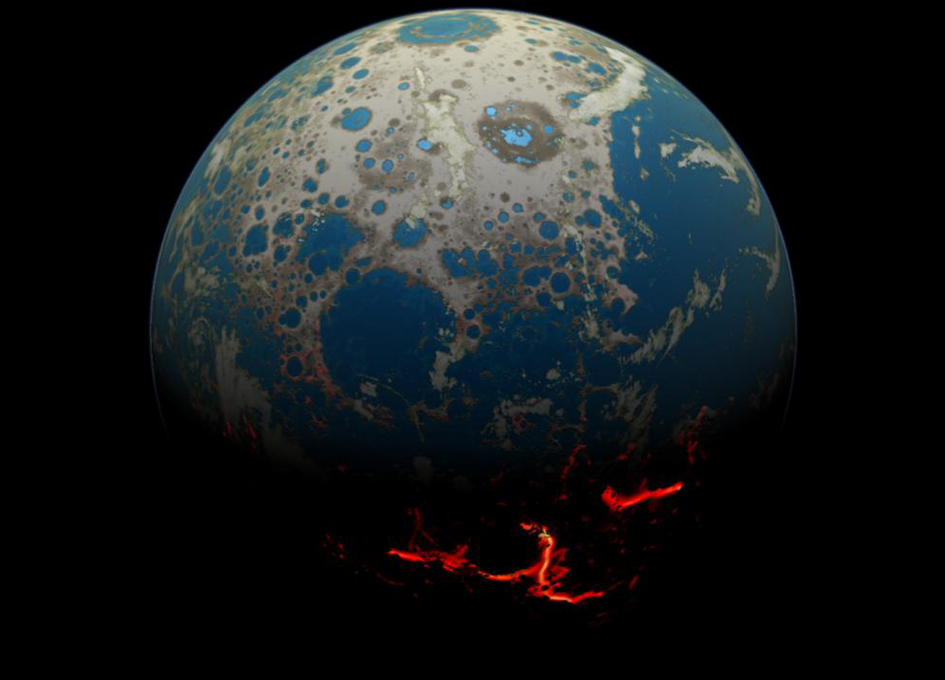 Sun's History Buried In The Moon's Crust