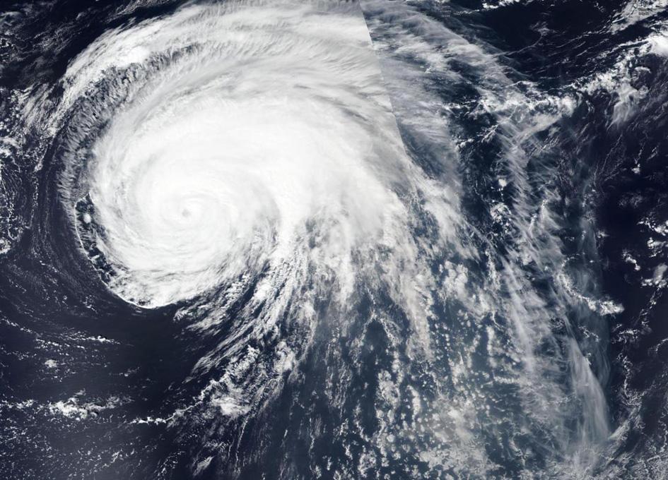 Orbital View Of Hurricane Lorenzo Heading Toward The Azores