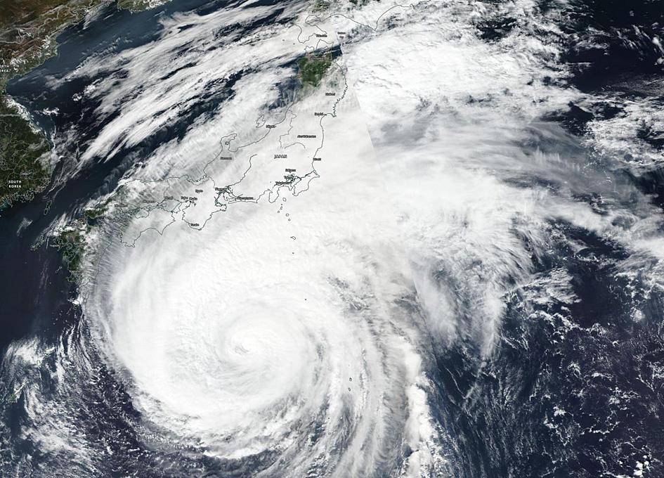 Suomi NPP Finds A Weaker Typhoon Hagibis Nearing Japan