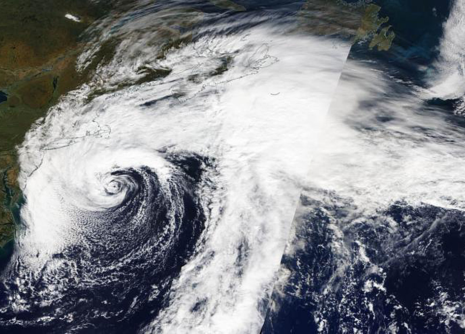 Orbital View As Atlantic Subtropical Storm Melissa Forms Off Of The New England Coast