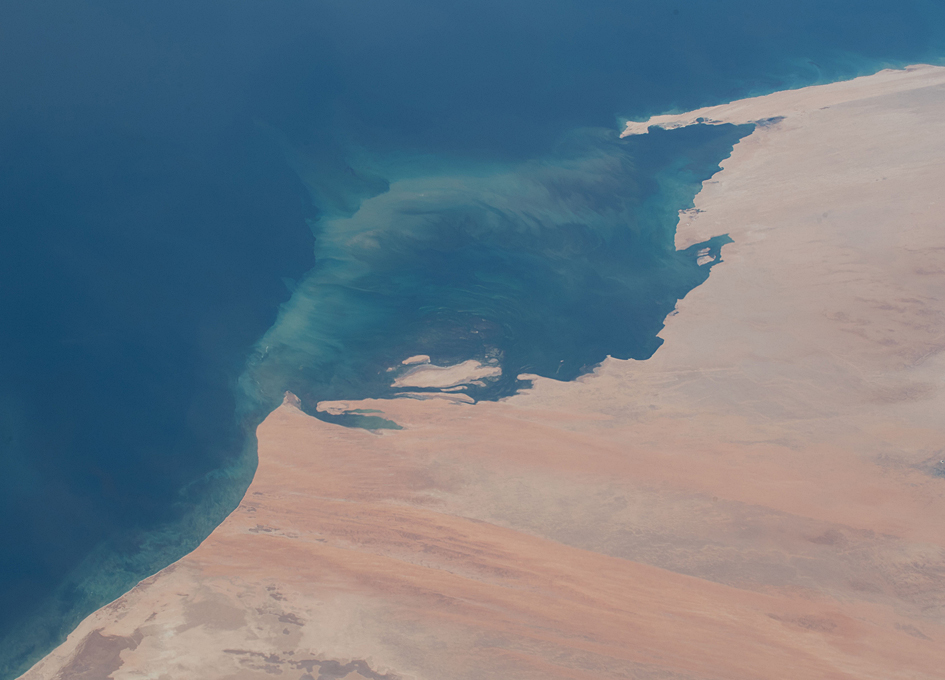 The Desert Coast of Mauritania Seen From Space