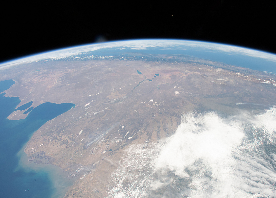 Argentina, Chile And The Andes Seen From Orbit
