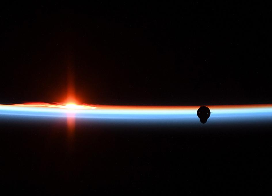 Crew Dragon Approaches At Orbital Dawn