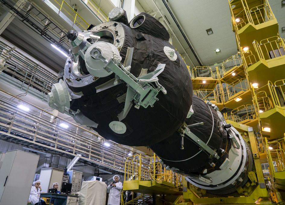 Soyuz MS-12 Spacecraft Prepared For Launch