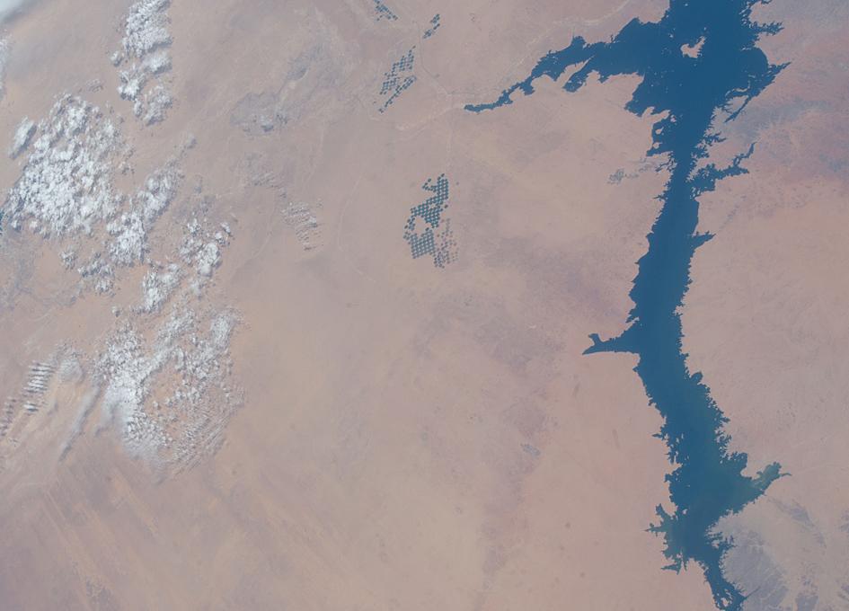 Lake Nasser in Egypt As Seen From Orbit