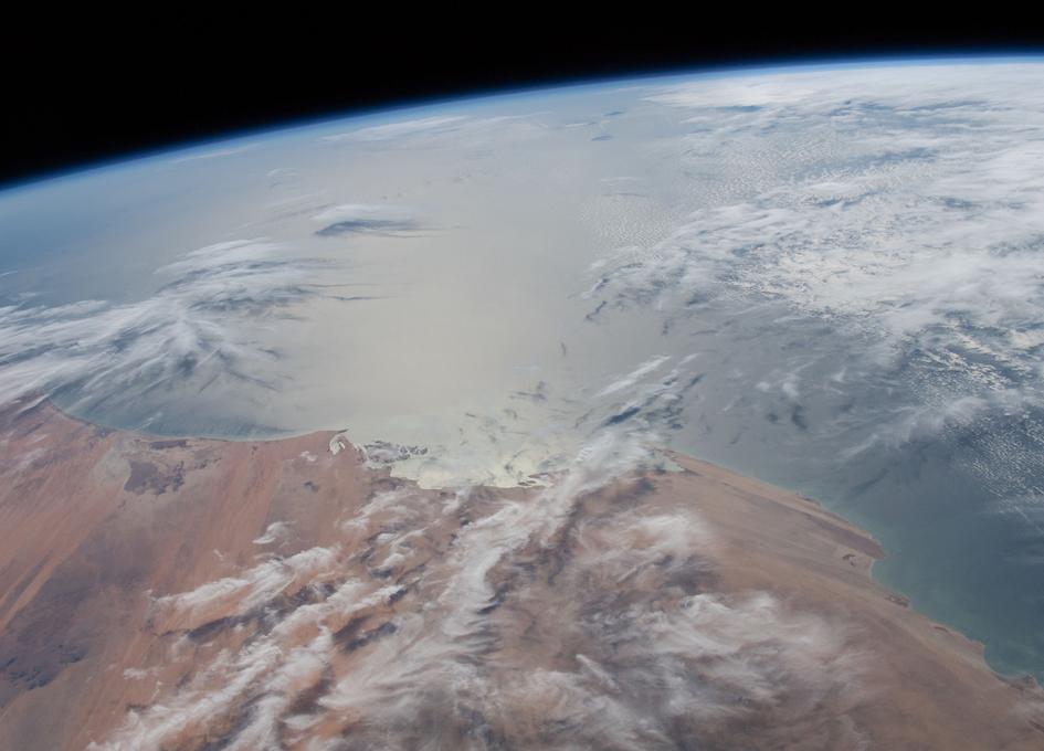 Orbital Sun Glint Over The Atlantic Ocean