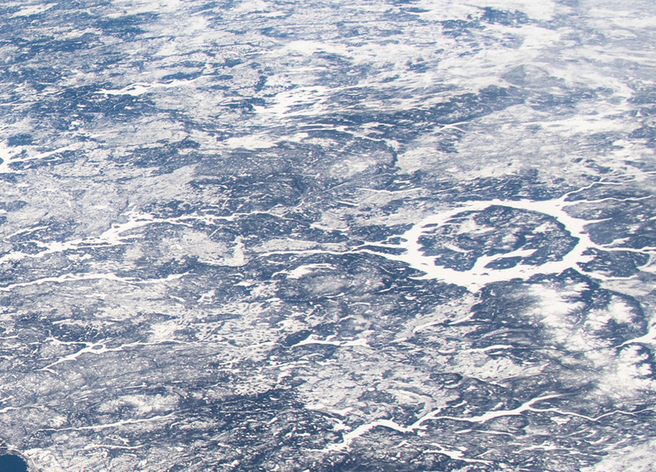 Manicouagan Crater Viewed From Orbit