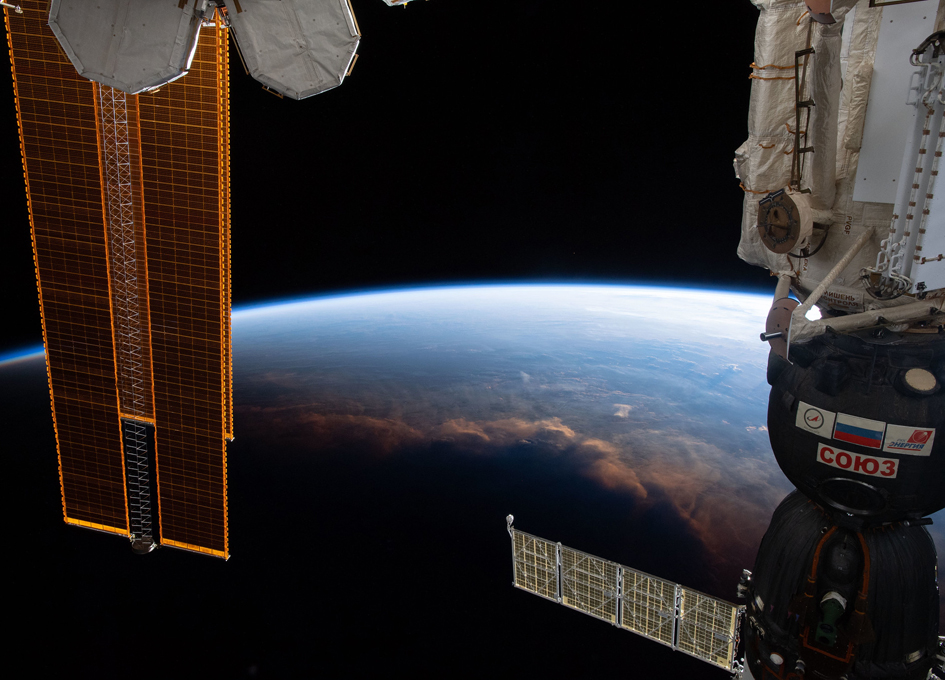 Crossing Earth's Terminator Above The Gulf of Guinea