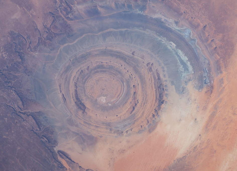 The Eye of the Sahara Viewed From Orbit
