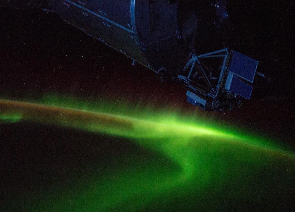 Aurora Australis Viewed From Orbit
