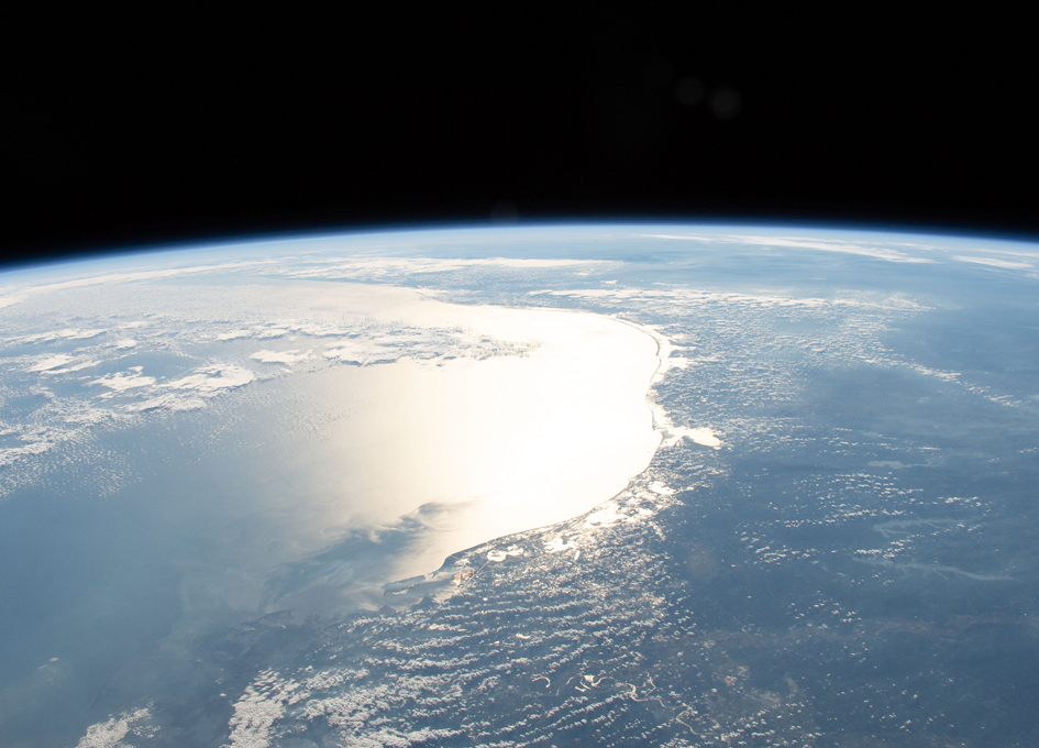 Orbital View Of Sun Glint Over The Gulf of Mexico
