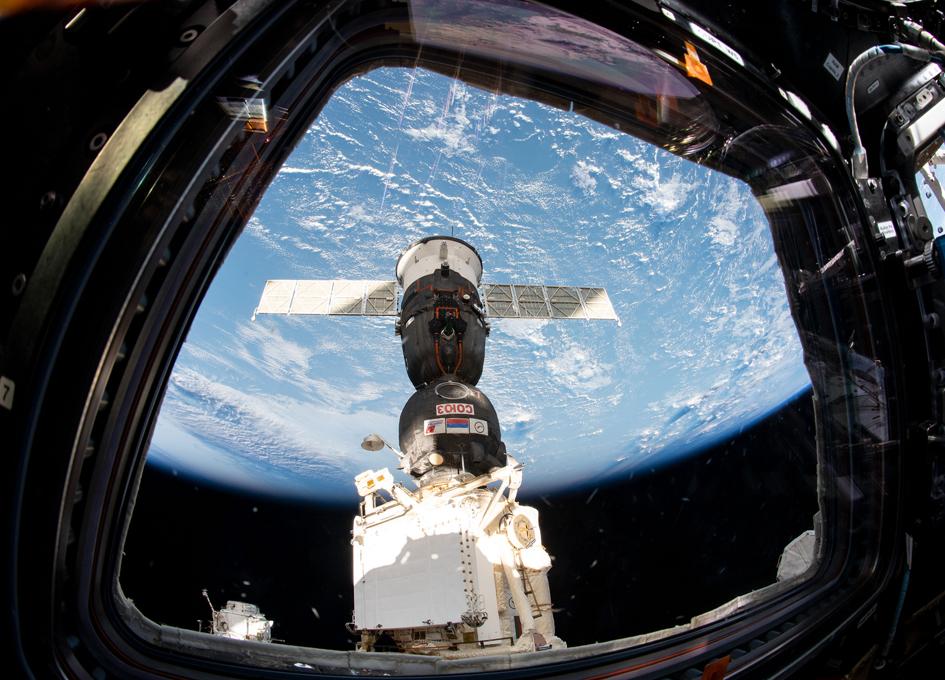 The Soyuz Outside The Window