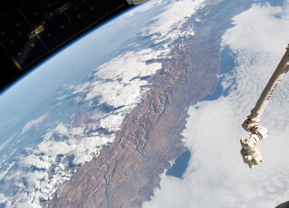 The Andes Mountain Range Seen From Orbit