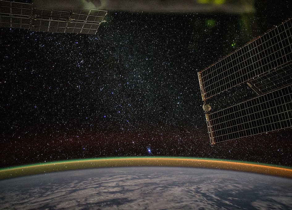 Earth's Limb During A Starry Night Pass