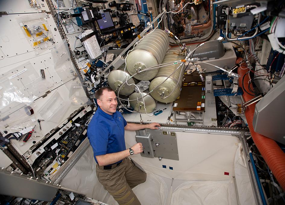 An Orbital Plumber At Work