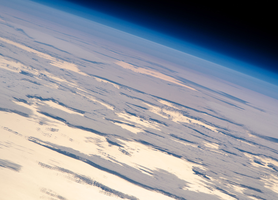 Flying Into An Orbital Sunset Above The Pacific Ocean