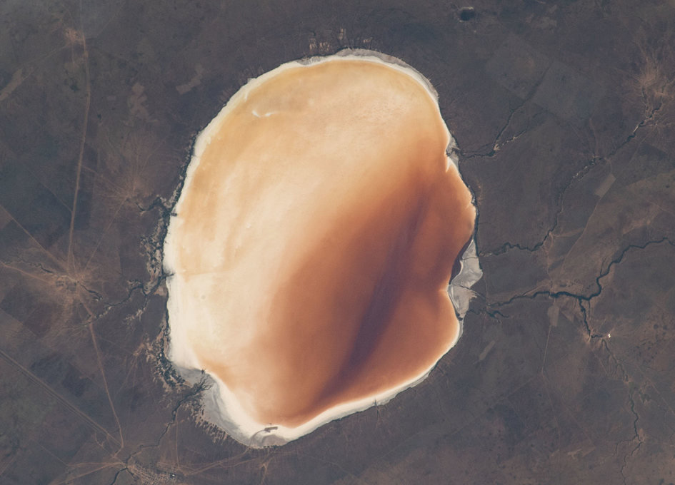 Russia's Saline Lake Elton Seen From Space