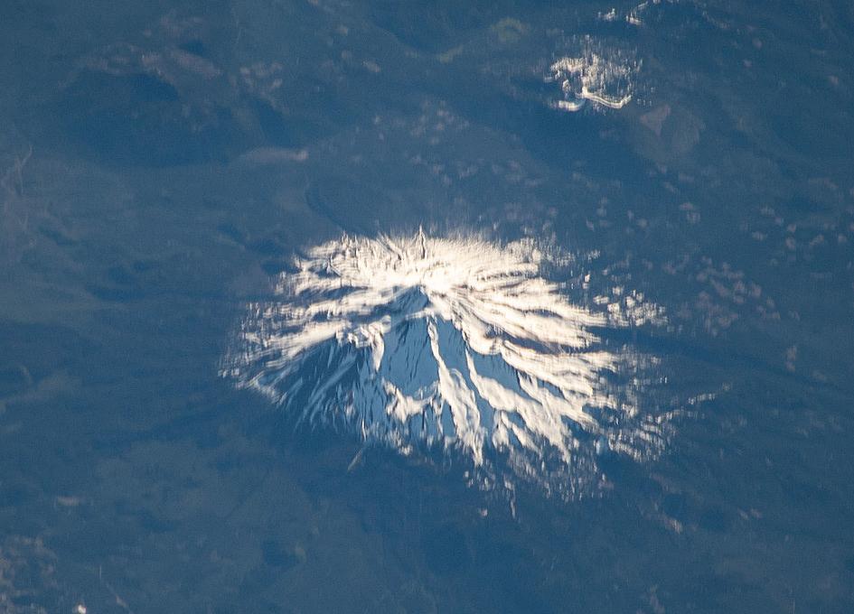 Mount Shasta Seen From Orbit