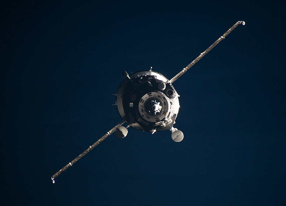 Soyuz MS-13 On Approach To The International Space Station