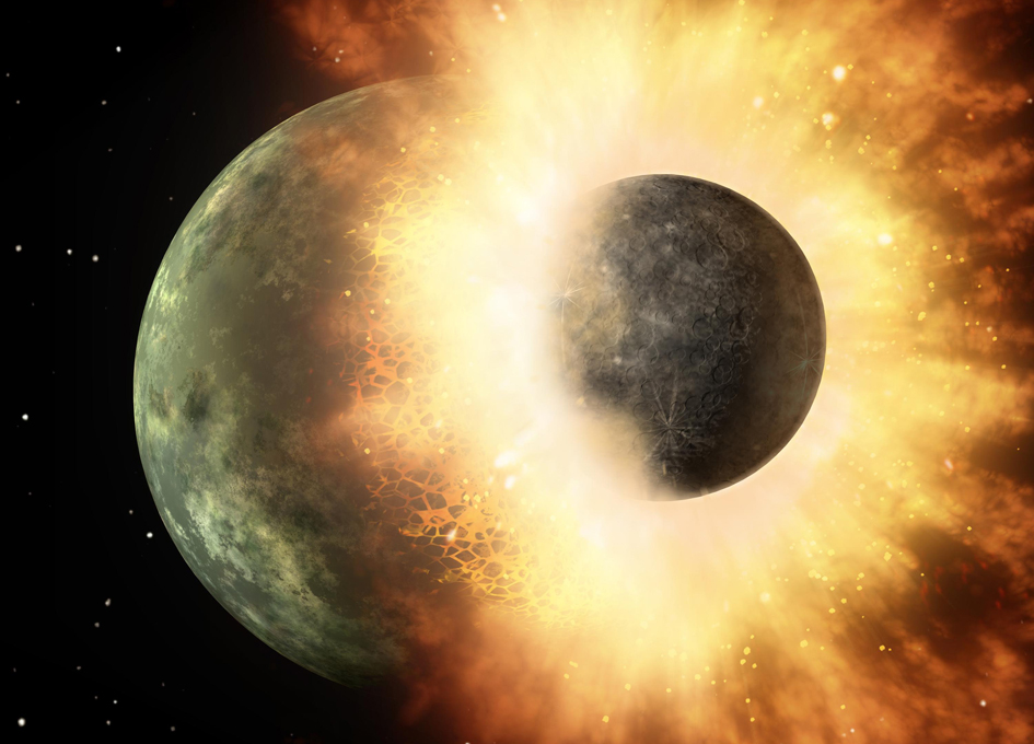 A Giant Impact Caused The Difference Between The Moon's Hemispheres