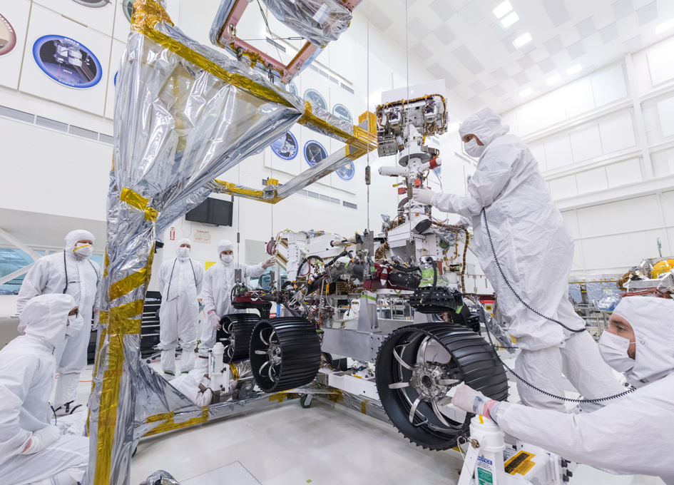 Mars 2020 Rover Gets Its Wheels