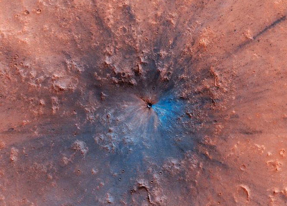 A Fresh Impact Crater On Mars