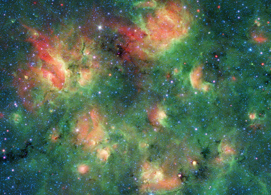 NASA Spitzer Captures Stunning Photo Of Milky Way Galaxy Filled With Bubbles