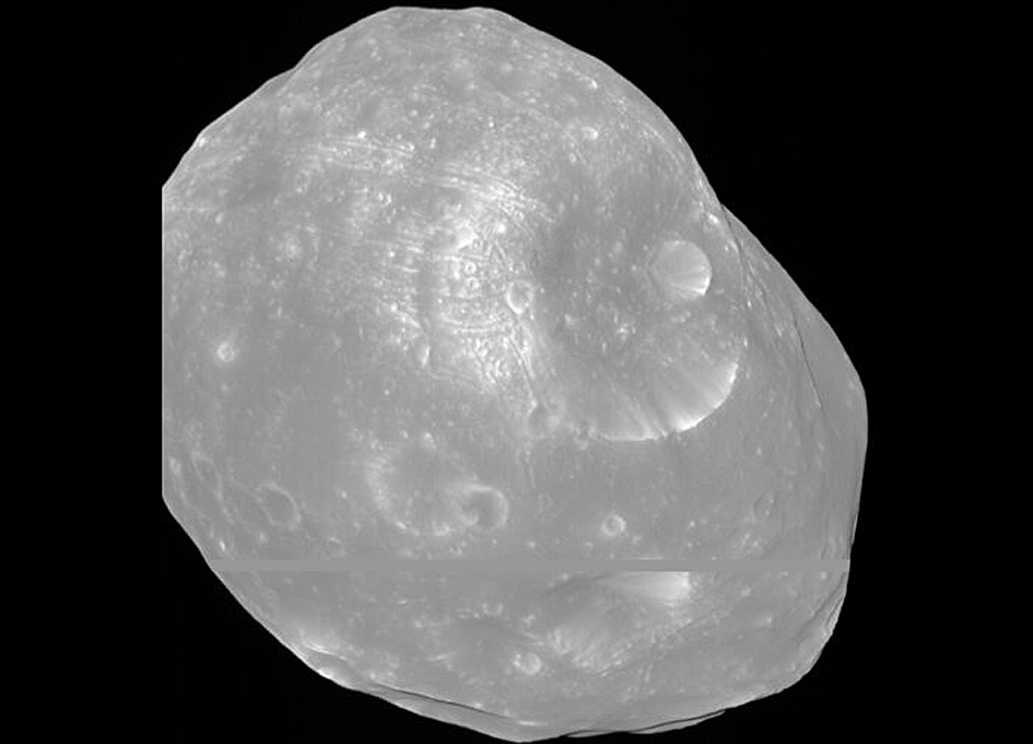 Mars Express Views Phobos' Phases