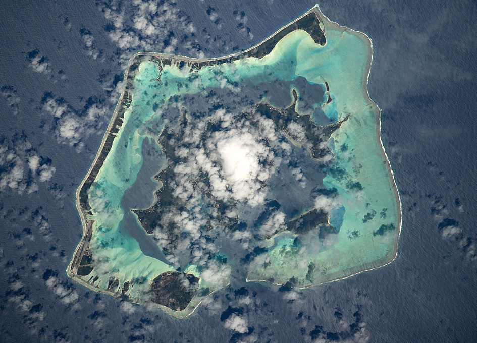 Bora Bora Seen From Orbit
