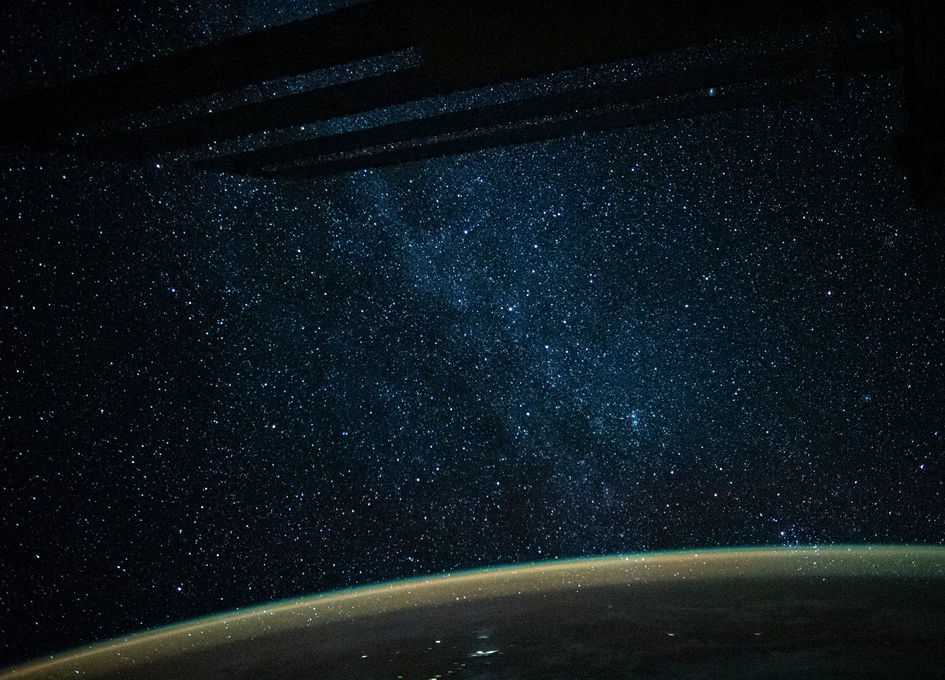 Orbital View: The Milky Way Above The Coral Sea