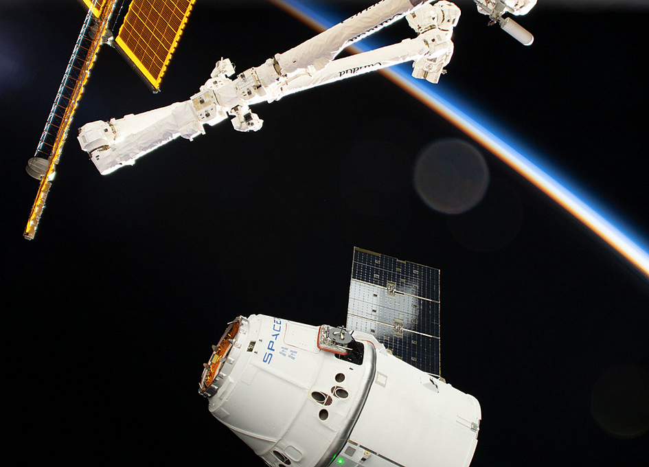 SpaceX Dragon Approaches The International Space Station