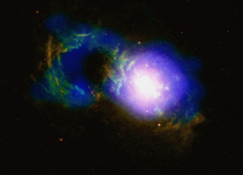 Storm Rages in Cosmic Teacup