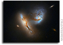 Hubble Catches Two Galaxies Interacting