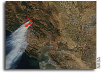 Orbital View Of California's Devastating Kincaid Fire