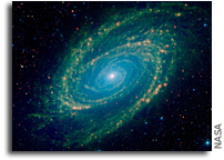An Infrared View Of The M81 Galaxy