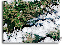 German Wildfire Seen From Orbit