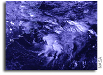 Suomi NPP Satellite Provides a Nighttime View of New Atlantic Tropical Depression