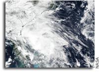 Orbital View Of Tropical Storm Bertha Organizing