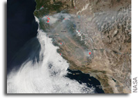Suomi NPP Imagery Of California Fires