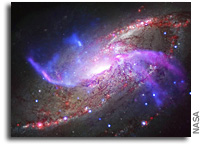 Galactic Pyrotechnics From 23 Million Light Years Away
