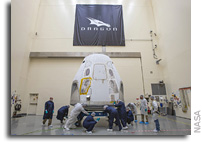 SpaceX Crew Dragon Being Prepared For Launch