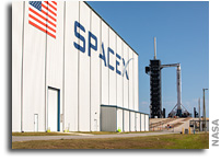 SpaceX Falcon 9 And Crew Dragon a Poised For Launch