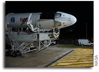 SpaceX Crew Dragon Rolls Out To The Launch Pad