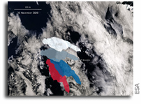 Giant Antarctic Iceberg A-68A Is On The Move