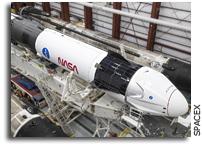 Crew Dragon And Falcon 9 In The Hangar