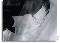 Orbital View As The Pine Island Glacier Shatters